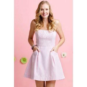Lilly Pulitzer Pink Seersucker Blossom Dress 2-4
